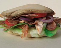 kebab sandwich with sauces