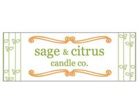 Sage & Citrus Candle Co. Packaging Design