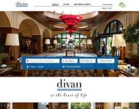 Hotel Divan: Homepage redesign