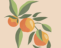 Fruit print illustration.