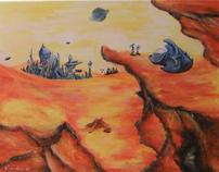 Acrylic alien impressions