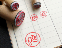Monograms on stamps