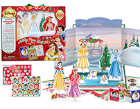 Disney Princess Holiday Paper Doll Kit