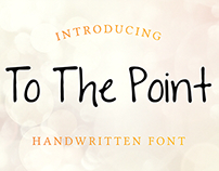 FREE! To The Point Font - Free Handwritten Font