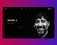 Photographer Personal Website UI - Portfolio