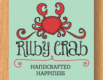 The Ruby Crab logo & hangtag