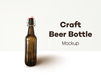 Craft Beer Bottle - Free PSD Mockup