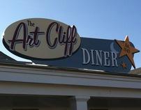 Art Cliff Diner, Signage