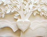Love Tree Paper Sculpture