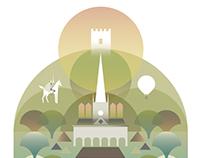 Series of designs - The towns of Monmouthshire