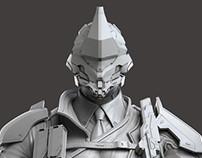 Monark Zbrush scuplt - Modern Combat Versus - Gameloft