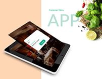Customer Menu - Restaurant reservation app