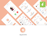 Aqual Mobile UI Kit for Social Networking Apps Freebie