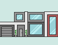 Modern Home Flat Design