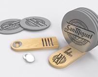 Bottle opener & coasters