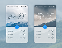 Daily UI #037- Weather - free Sketch source