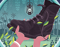 Ashwathy & the Boot of God: Cover Illustration