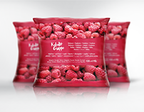 Frozen Raspberries Label