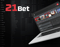 Betting website Design - 21 Bet
