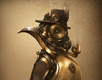 Steampunk Penguin