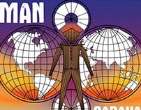 Ticket design for Burning Man 2014: Caravansary