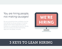 Lean Hiring Infographics for Newton software