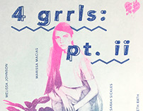 4 grrls: pt. ii Exhibition Poster