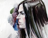 Portrait. Watercolor 2015-2016