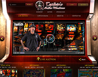 Captain's Auction warehouse Arcade web proposal