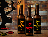 Identidade e rótulo para cerveja Haita - beer