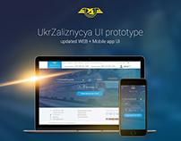 UkrZaliznicya UI prototype