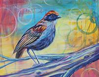 Bird Life Acrylic 20x20 Painting