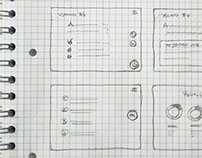 Tablet survey wireframe