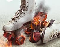 Poster roller skates / Retouch