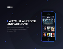 HBO GO Mobile Application Concept