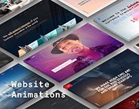 Websites animations