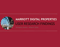 Marriott Website Research Planning