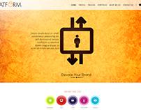 Platform Branding company landing page concept.
