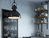 Visualization. Kitchen. Loft