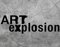 Art Explosion art show branding