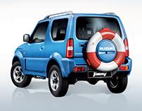 Suzuki Jimny, print ad.