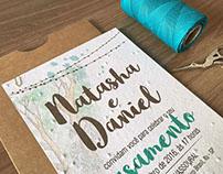 Natasha e Daniel - Convite de casamento