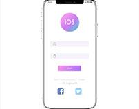 Clean iOS login Design