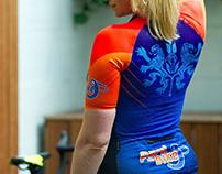 Corporate Cycling jersey. Team rider PAUL VAN BIKE