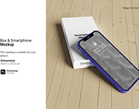 Box & Smartphone Mockup