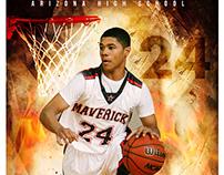 Basketball sports photography templates