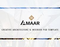 Amaar | Creative Architecture & Interior PSD Template