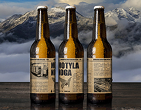 MOTYLA NOGA - beer label concept for the printing house