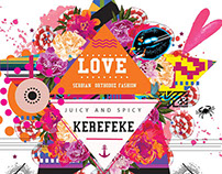 Kerefeke Love Juicy and spicy Tshirt Illustration