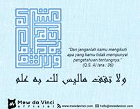 Q.S. Al Isra ayat 36
